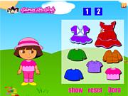 Play Dora fun dress up Game