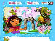 juego Jolly Jigsaw Puzzle - Dora the Explorer