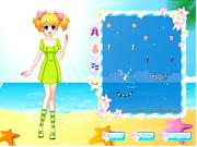 Play Pretty beach wandering girl Game