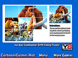 Ice Age Continental Drift Sliding Puzzle game