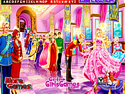 Play Barbie in royal party hidden letters Game