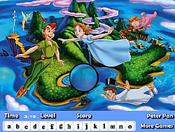 Peter Pan Hidden Letters game