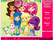 Play Strawberry shortcake hidden numbers game Game