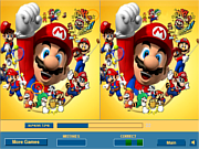 Play Mario brothers difference Game