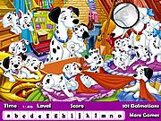 Chơi trò chơi miễn phí 101 Dalmatians Hidden Letters