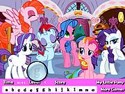 Chơi trò chơi miễn phí My Little Pony Hidden Letter