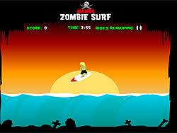 Spielen Sie das Gratis-Spiel  Zombie Surf