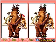 Play Ice age spot the differences Game