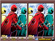 Play Power rangers spot the differences Game