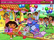 Play Dora hidden alphabets Game