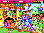Chơi trò chơi miễn phí Dora Hidden Alphabets