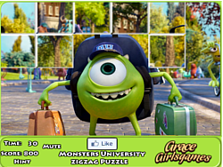 Monster University Zigzag Puzzle game