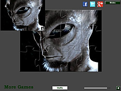 Real Alien Jigsaw game
