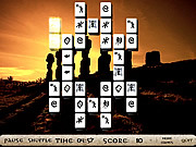 Play Mysterious statues mahjong Game