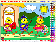 Play Coloring easter chicks - rossy coloring games Game