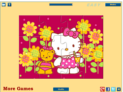 Hello Kitty with Teddy Bear game