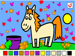 Rosalyn's Animal Coloring game