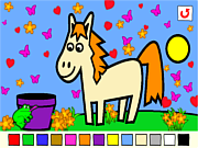 Play Rosalyn s animal coloring Game