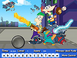 Phineas And Ferb Hidden Letters game