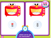 Play Kitchen safety with kiki Game