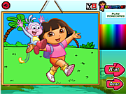 Play Dora the explorer coloring Game