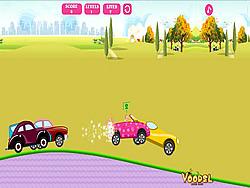 Barbie Car Racing game