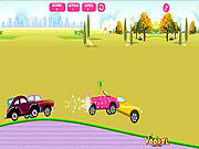 Barbie Car Racing game