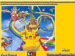 Pikachu Jigsaw game