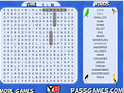 Play Birds word search Game