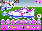 Play Decorate my football shoes Game