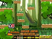 Play Dinosaur jumping adventure Game