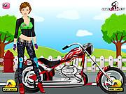 Play Biker girl dress up Game