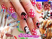 juego Beautiful Girl Nails Design Hidden Letters