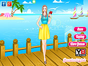 Play Spectacular neon colors dress up Game