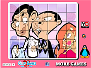 Play Mr bean spin puzzle Game