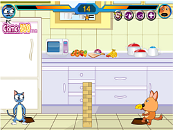 Juega al juego gratis Cat vs Dog