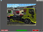 Play Racing trucks puzzle Game