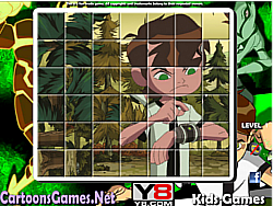 Ben 10 Spin Puzzle game