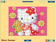 Play Hello kitty flowers Game