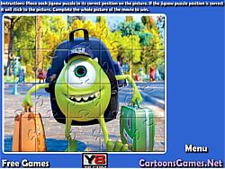 Monsters University Jigsaw game