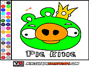 Colorear Pig King game
