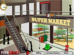 Permainan Stickman Death Shopping Mall