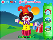 Play Funny clown decorating Game