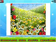 Play Nature flowers puzzle Game