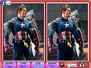 Play 10 differences - captain america Game
