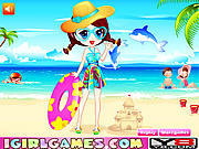Play Summer beach dress up Game