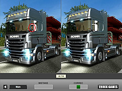 Racing Truck Difference game