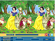 Play Cute snow white difference Game