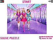 Play Barbie at school jigsaw Game