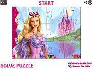 Play Barbie the queen jigsaw Game